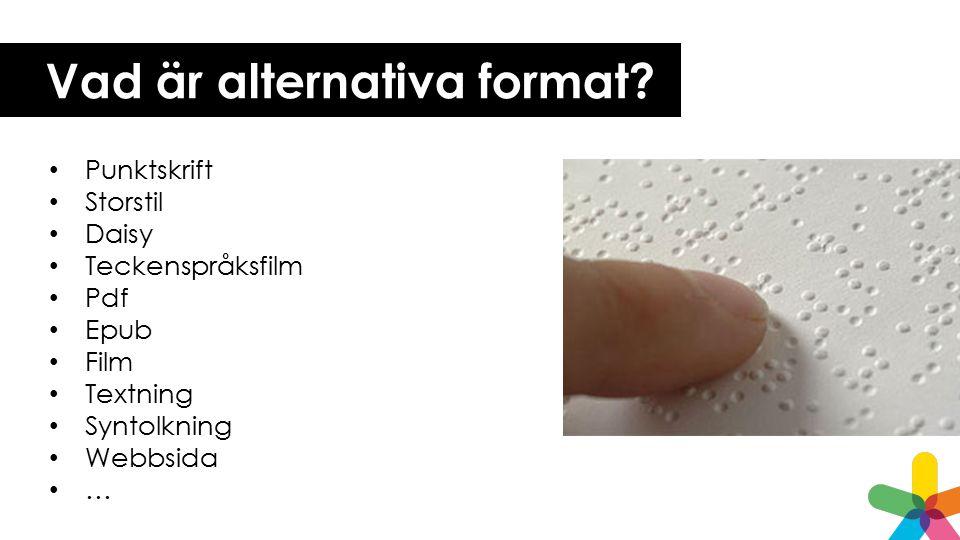 Vad är alternativa format