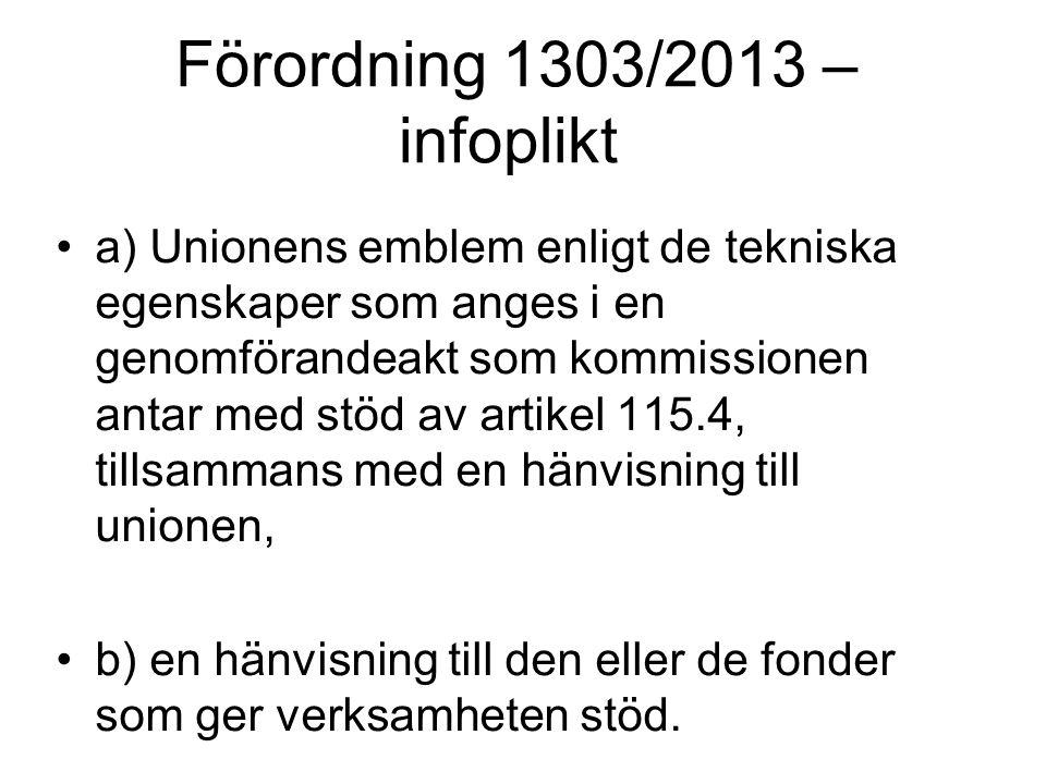 Förordning 1303/2013 – infoplikt