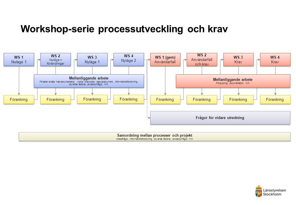 Workshop-serie processutveckling och krav