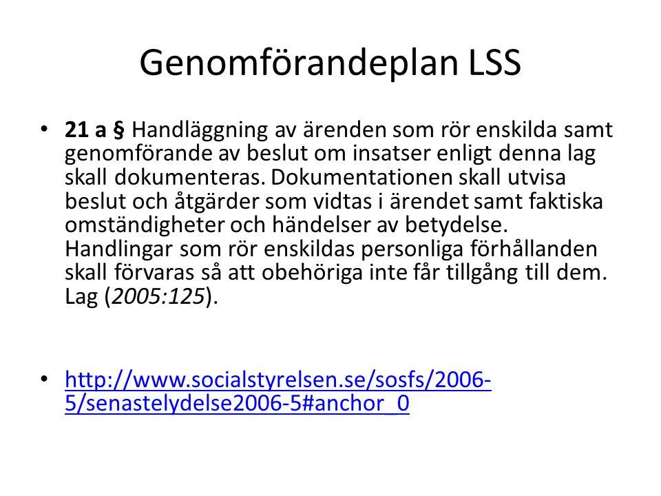 Genomförandeplan LSS