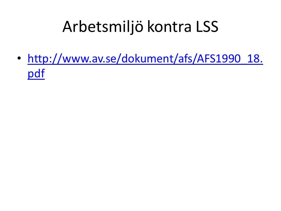 Arbetsmiljö kontra LSS