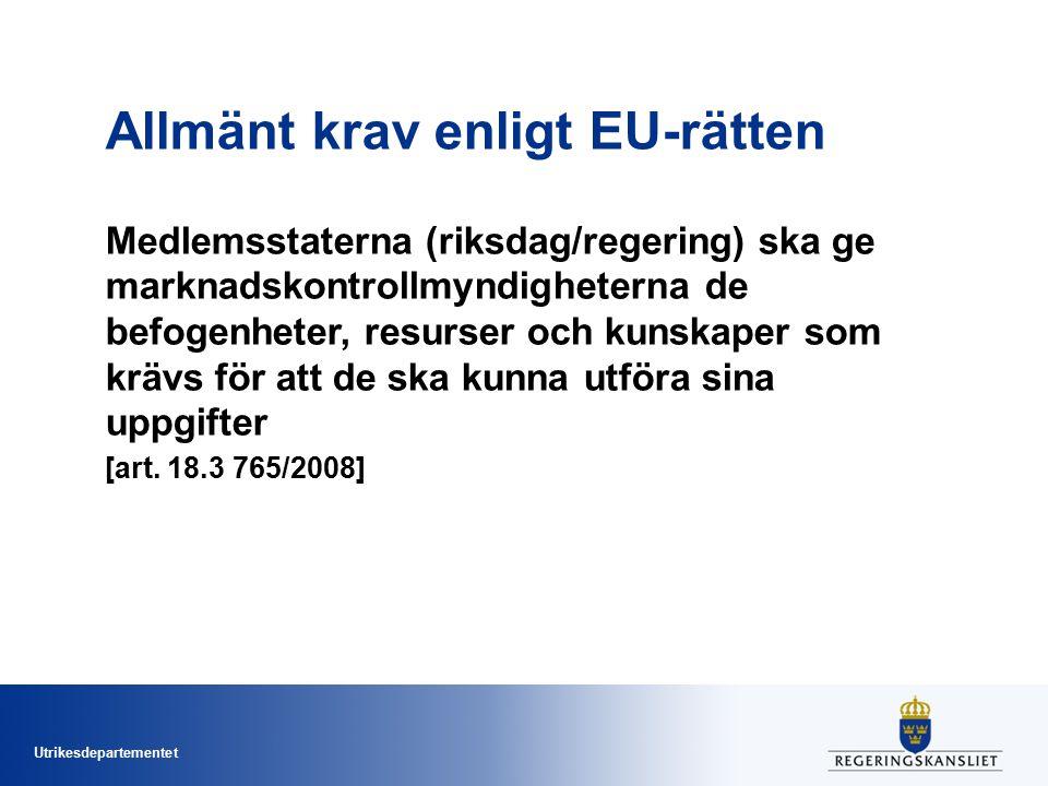 Allmänt krav enligt EU-rätten