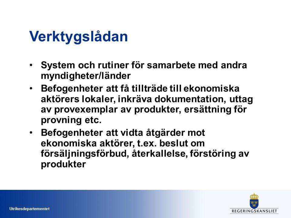 Verktygslådan System och rutiner för samarbete med andra myndigheter/länder.
