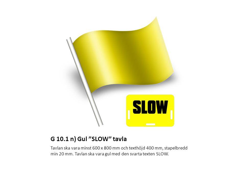 G 10.1 n) Gul SLOW tavla
