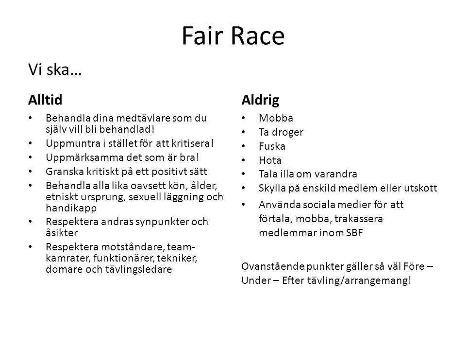 Fair Race Vi ska… Alltid Aldrig