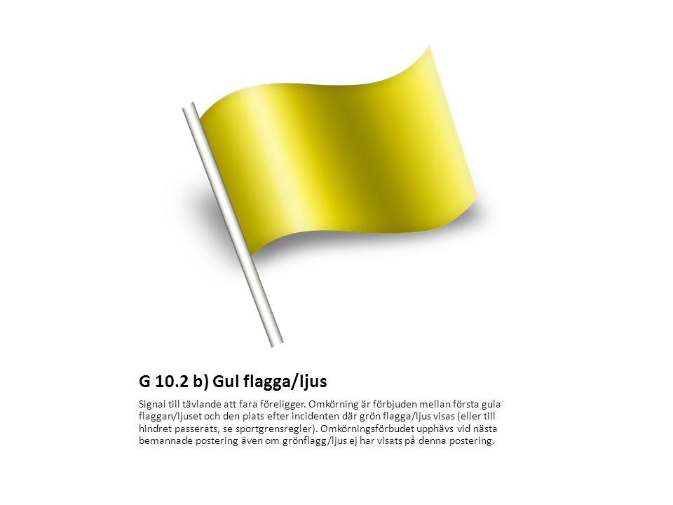 G 10.2 b) Gul flagga/ljus