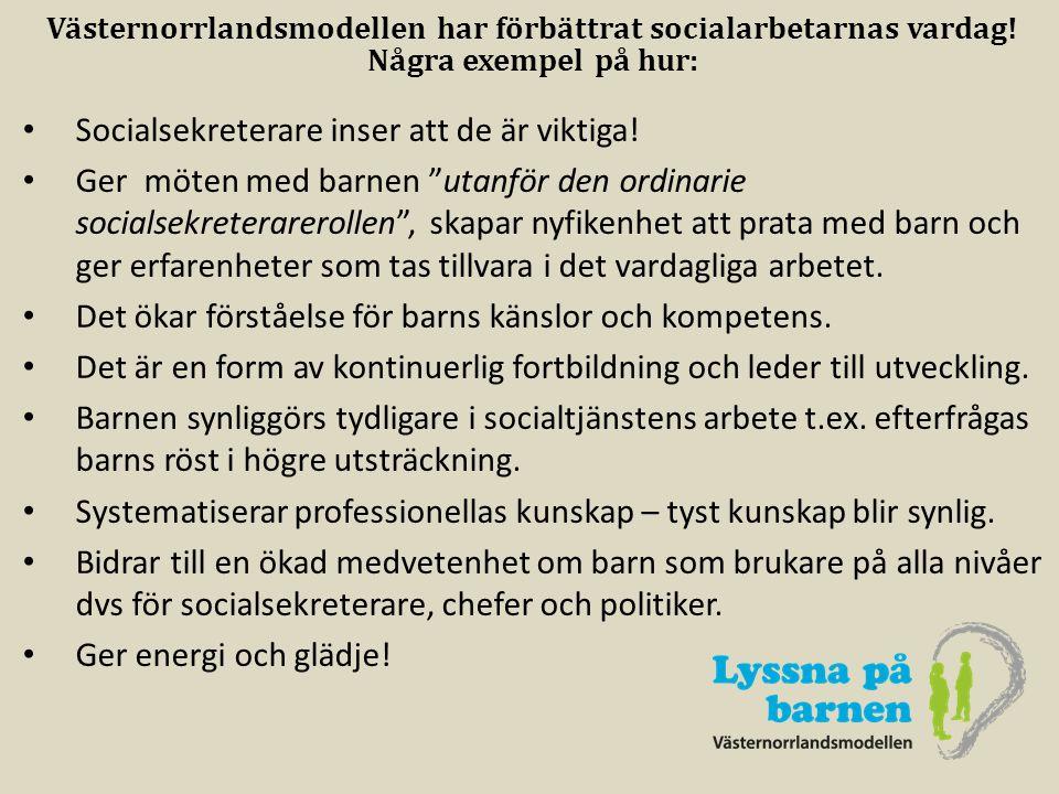 Västernorrlandsmodellen har förbättrat socialarbetarnas vardag!