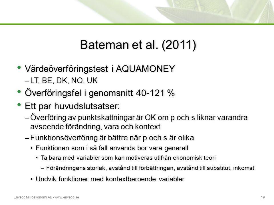Bateman et al. (2011) Värdeöverföringstest i AQUAMONEY