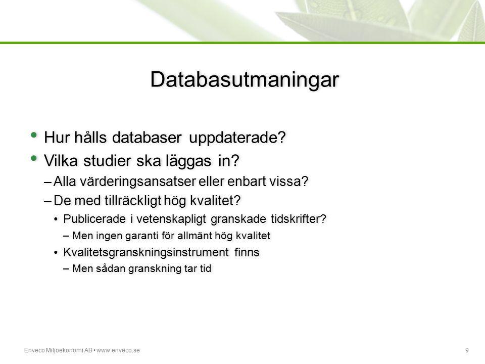 Databasutmaningar Hur hålls databaser uppdaterade
