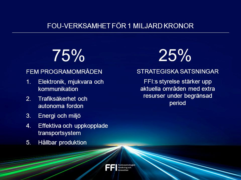 FOU-verksamhet för 1 miljard kronor