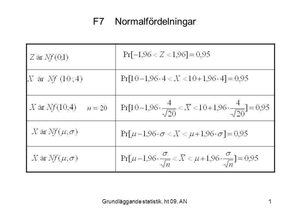 Grundläggande statistik, ht 09, AN