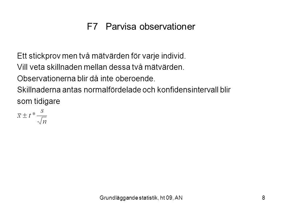 F7 Parvisa observationer