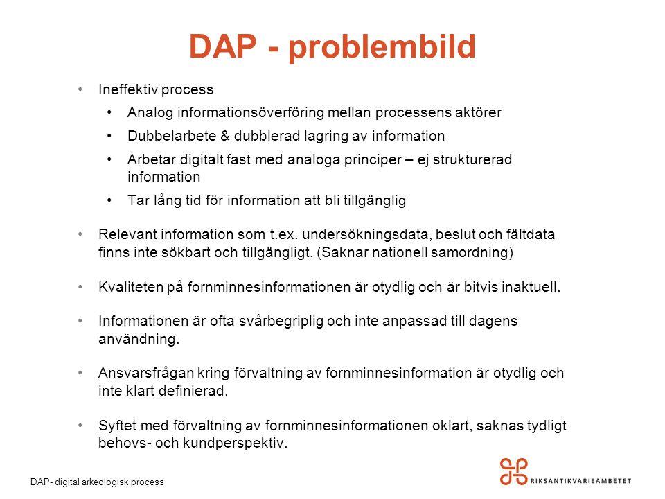 DAP - problembild Ineffektiv process