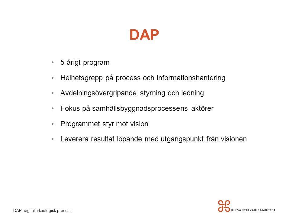 DAP 5-årigt program Helhetsgrepp på process och informationshantering