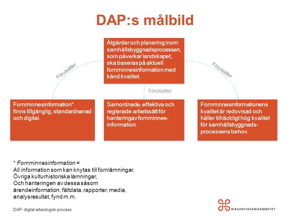 DAP:s målbild Åtgärder och planering inom