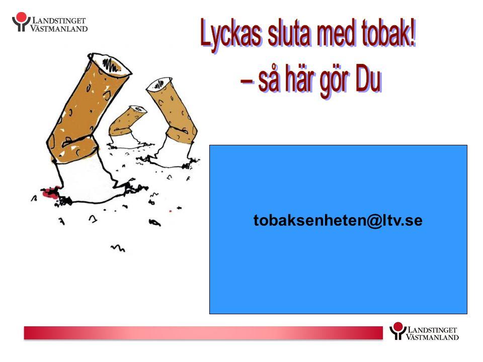 Lyckas sluta med tobak! – så här gör Du tobaksenheten@ltv.se