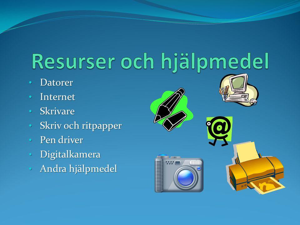Resurser och hjälpmedel