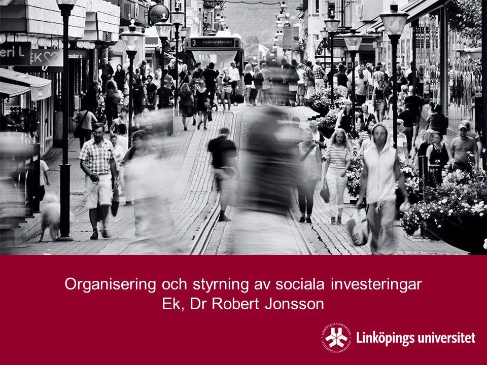 Organisering och styrning av sociala investeringar