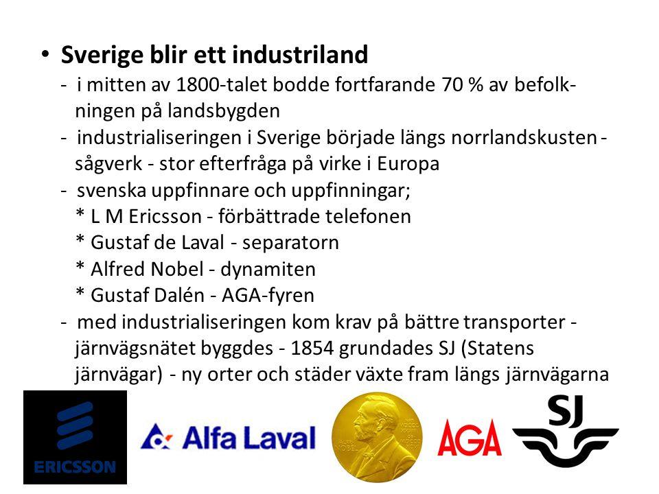 Sverige blir ett industriland