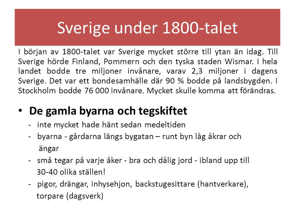 Sverige under 1800-talet De gamla byarna och tegskiftet