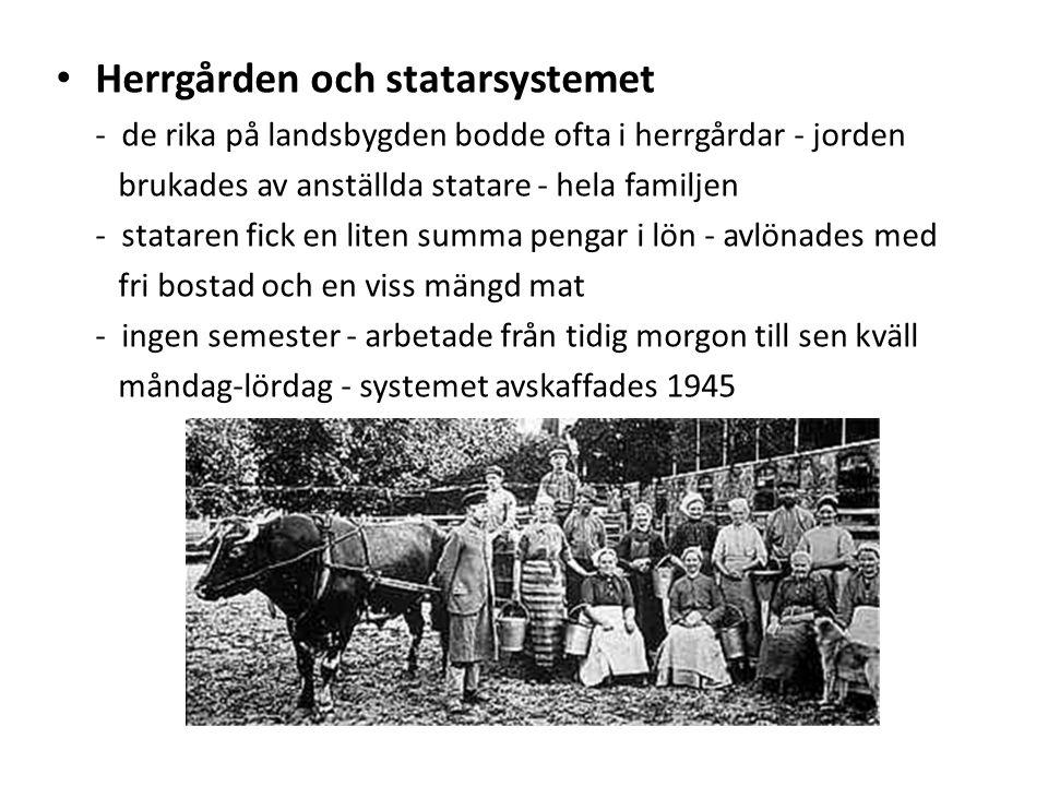 Herrgården och statarsystemet