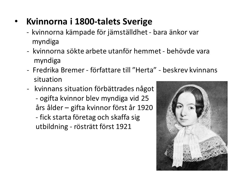 Kvinnorna i 1800-talets Sverige