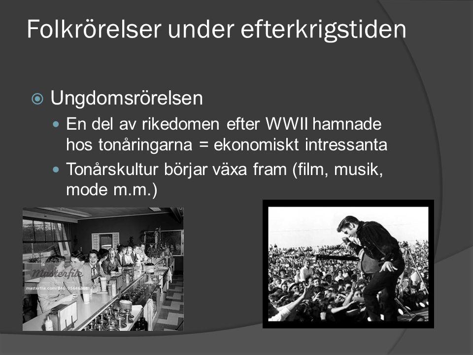 Folkrörelser under efterkrigstiden