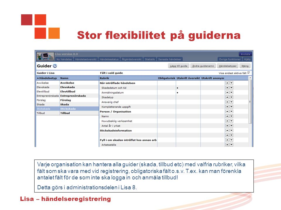 Stor flexibilitet på guiderna