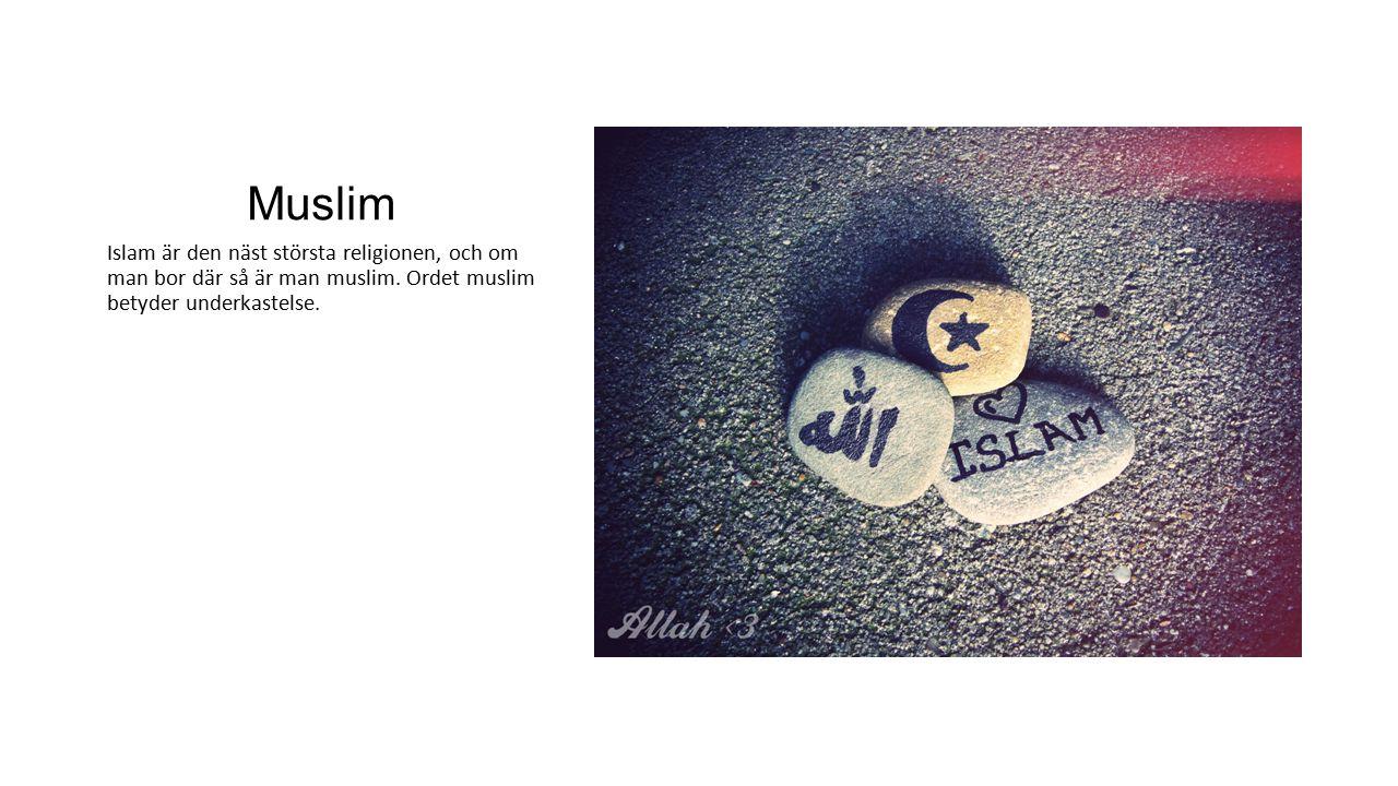 Muslim Islam är den näst största religionen, och om man bor där så är man muslim.