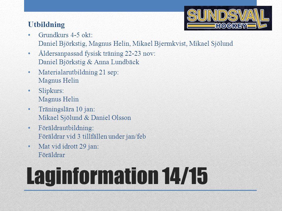 Laginformation 14/15 Utbildning