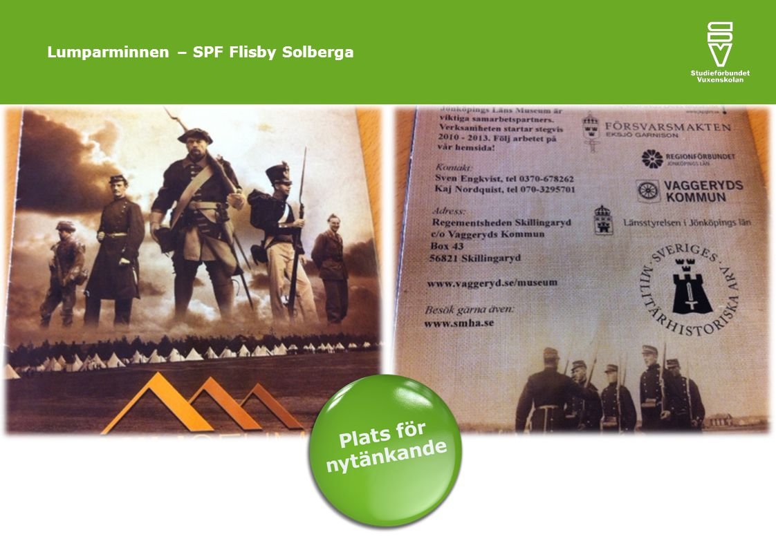 Lumparminnen – SPF Flisby Solberga