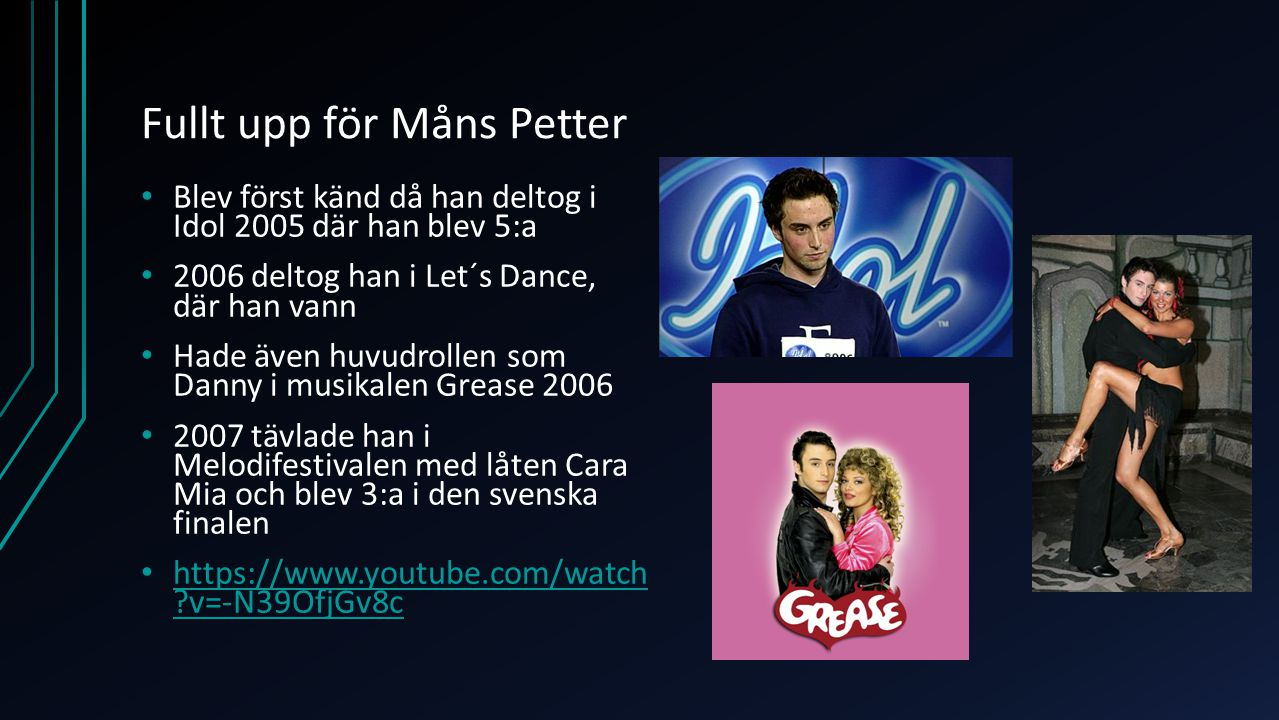 Fullt upp för Måns Petter