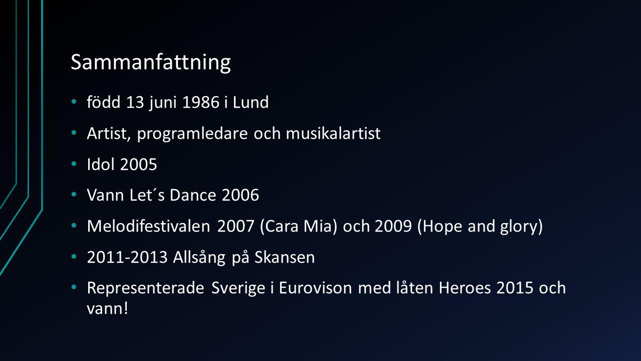 Sammanfattning född 13 juni 1986 i Lund