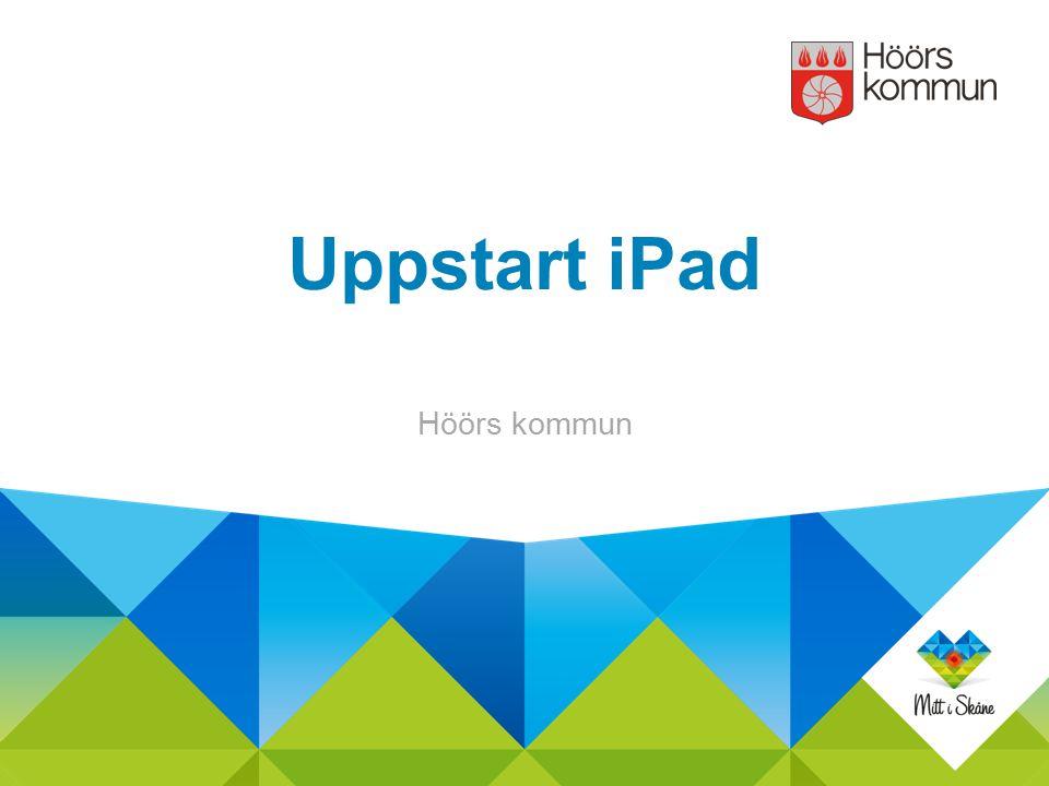 Uppstart iPad Höörs kommun