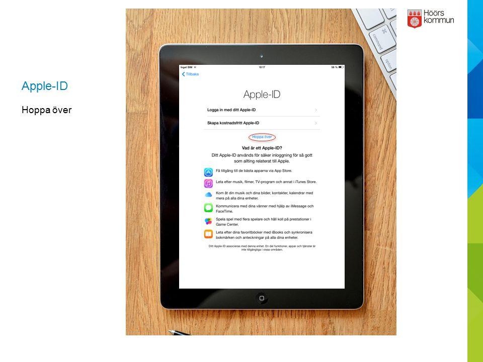 Apple-ID Hoppa över