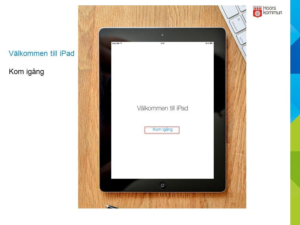 Välkommen till iPad Kom igång