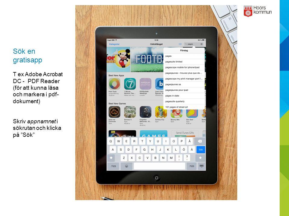 Sök en gratisapp T ex Adobe Acrobat DC - PDF Reader