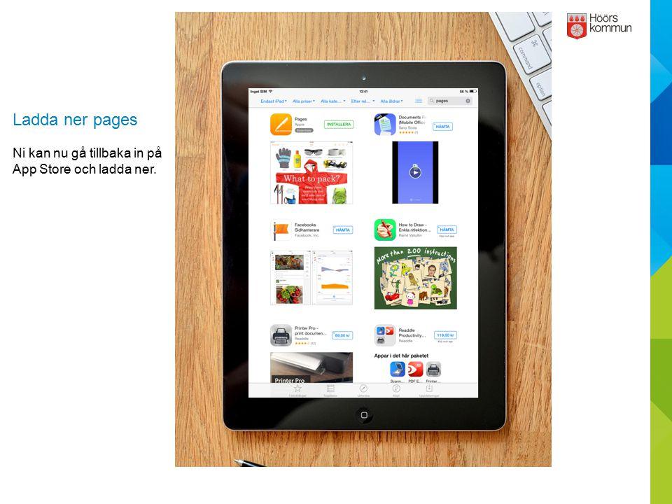 Ladda ner pages Ni kan nu gå tillbaka in på App Store och ladda ner.