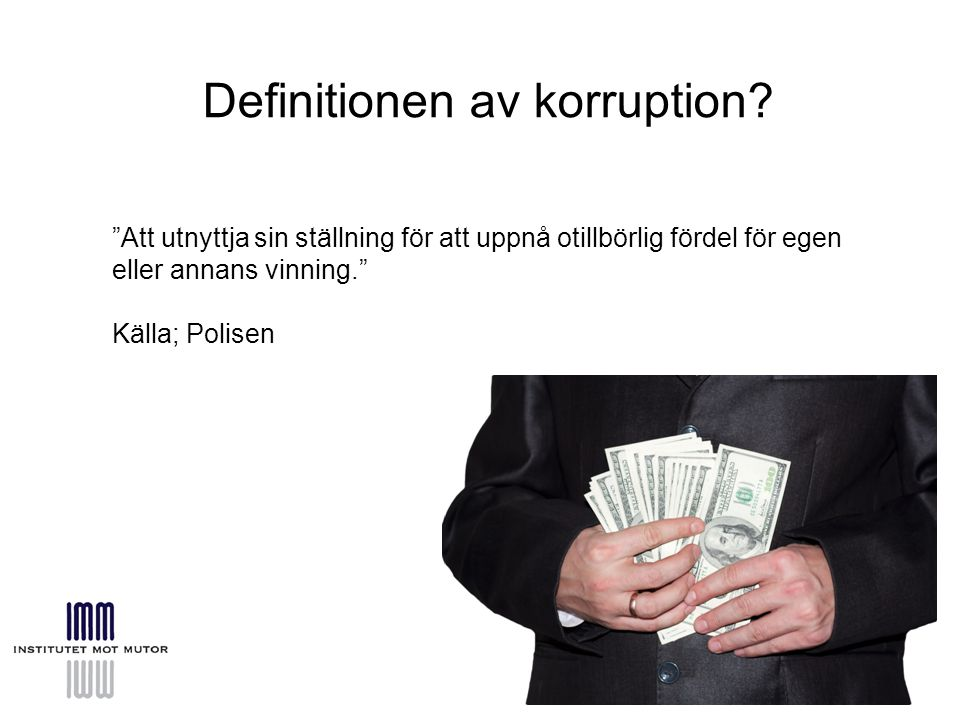 Definitionen av korruption