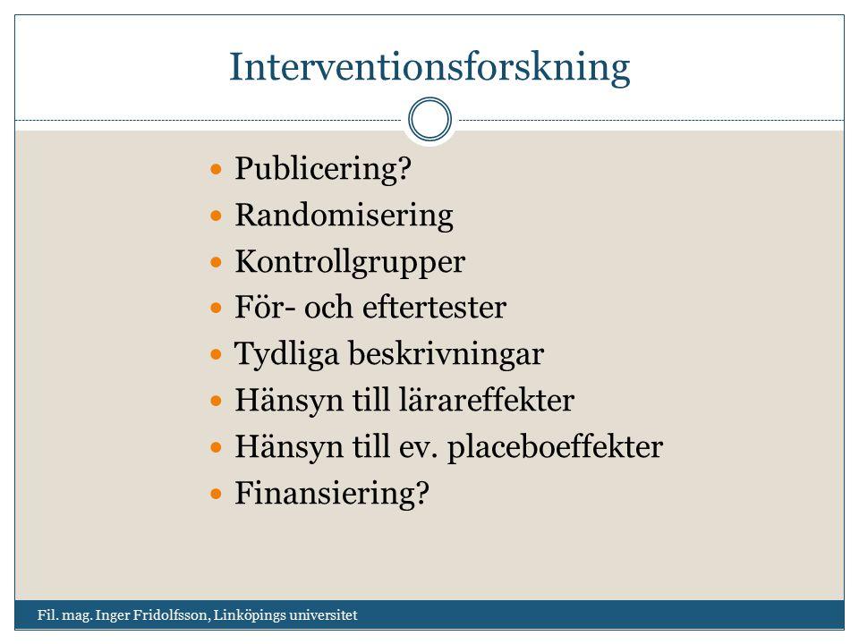 Interventionsforskning