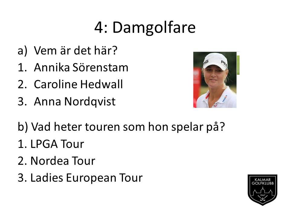 4: Damgolfare Vem är det här Annika Sörenstam Caroline Hedwall
