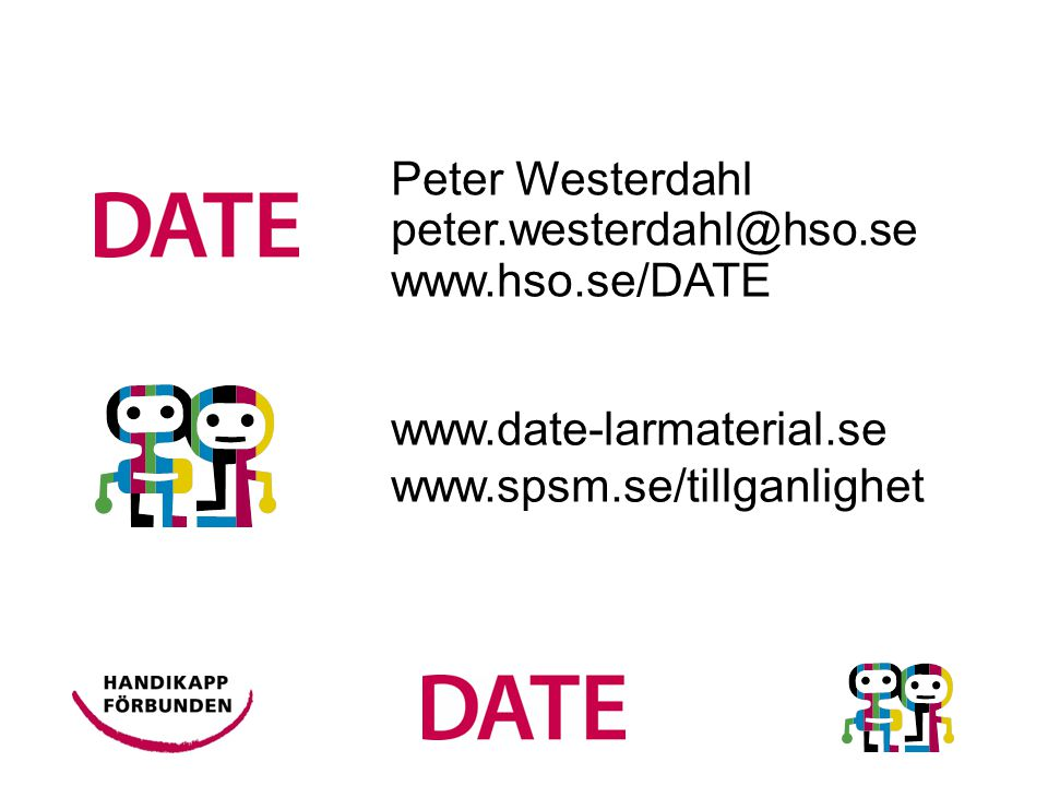 Peter Westerdahl peter.westerdahl@hso.se www.hso.se/DATE