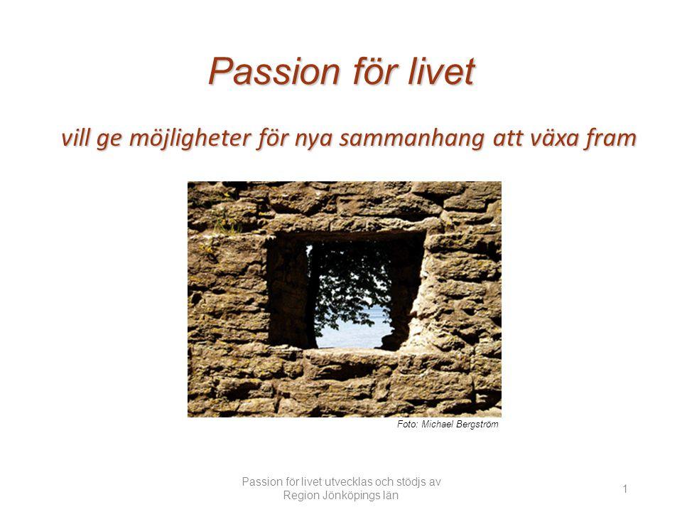 Passion för livet utvecklas och stödjs av Region Jönköpings län