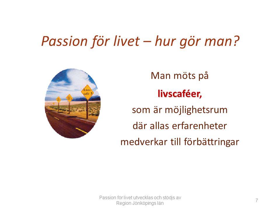 Passion för livet – hur gör man