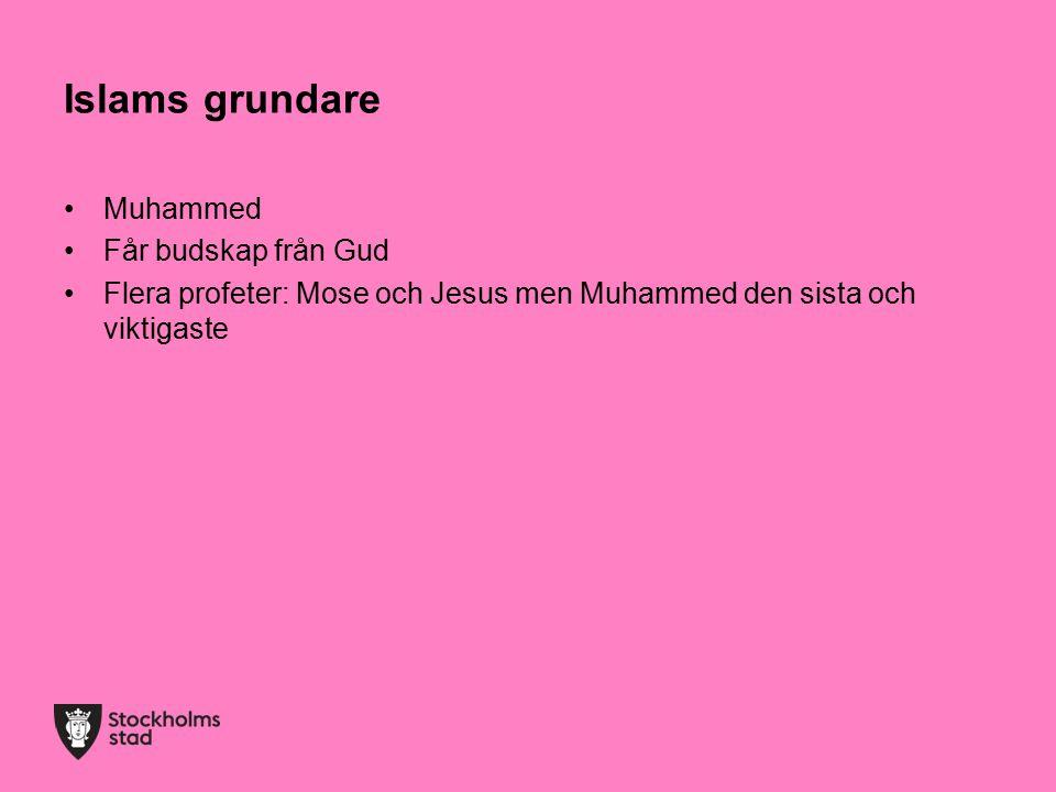 Islams grundare Muhammed Får budskap från Gud