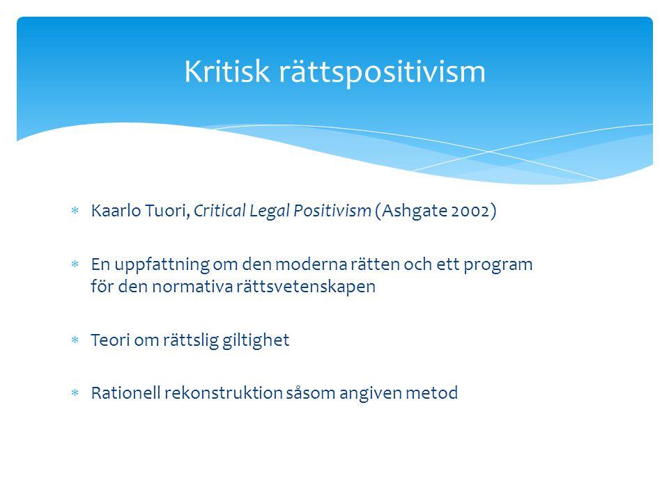 Kritisk rättspositivism