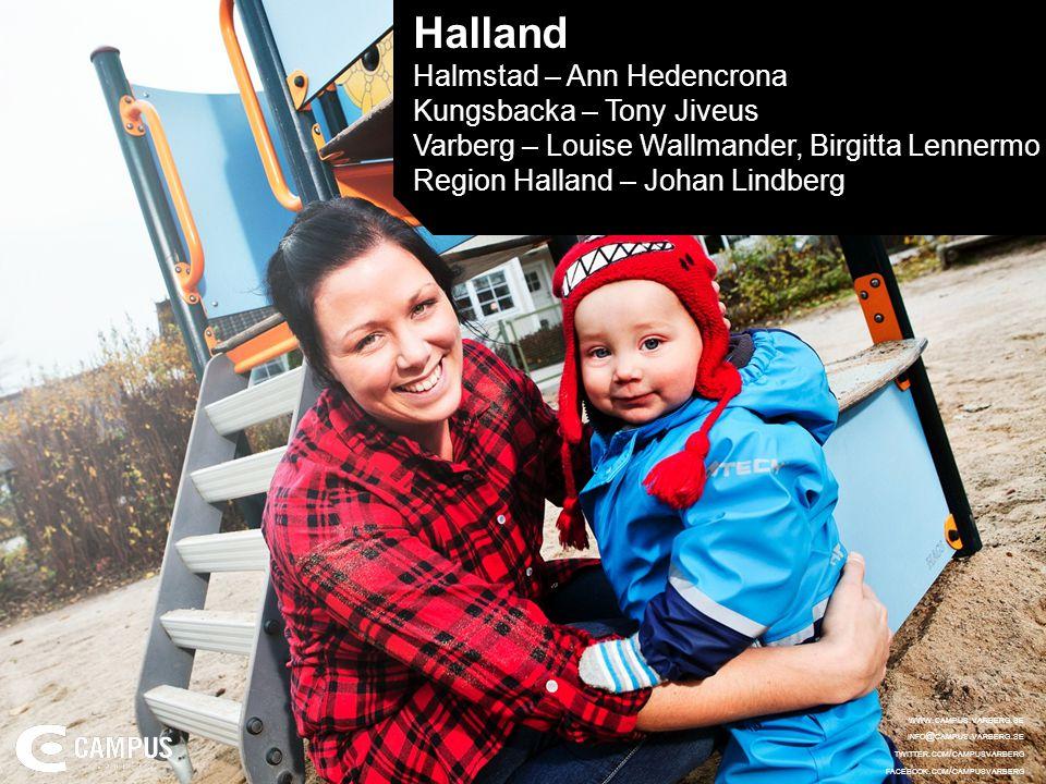 Halland Halmstad – Ann Hedencrona Kungsbacka – Tony Jiveus