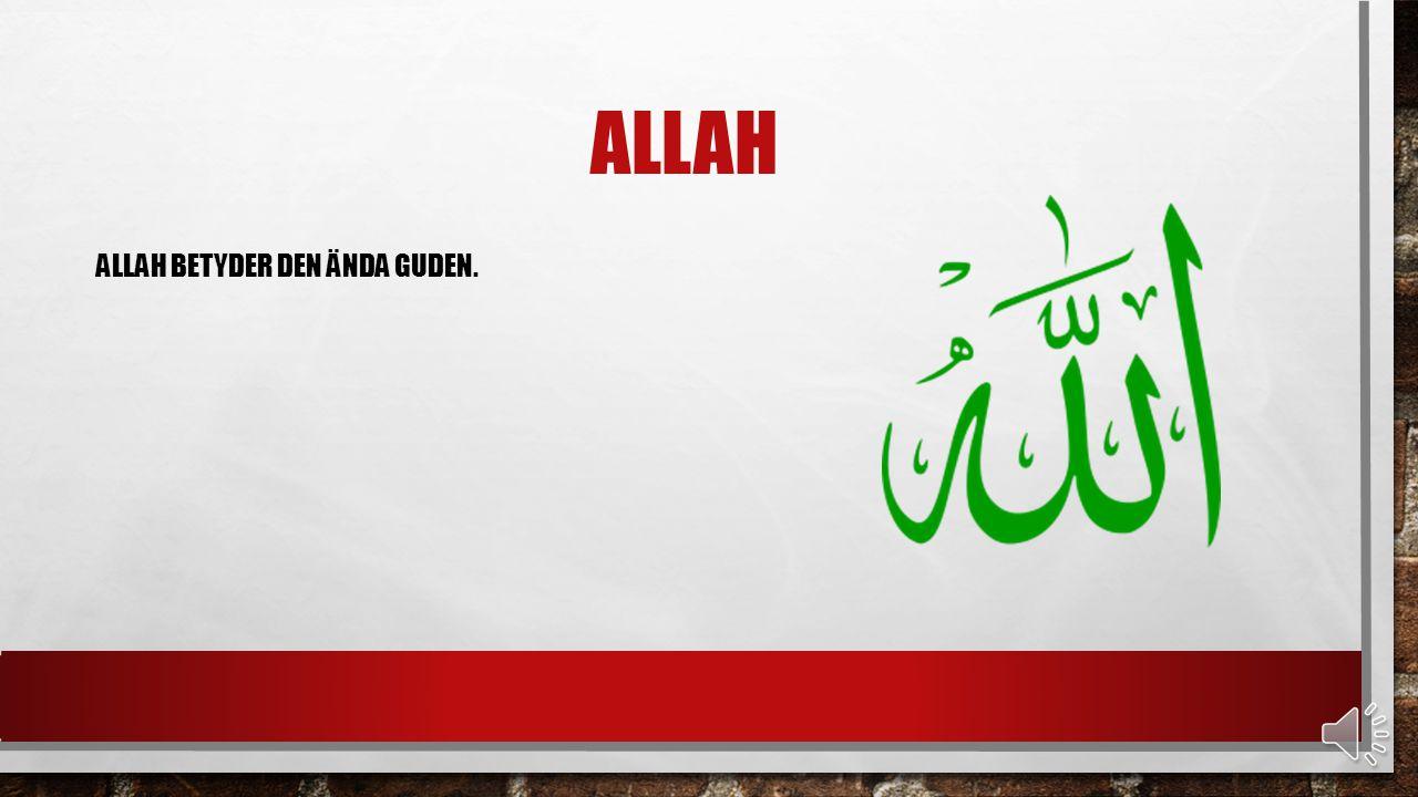 ALLAH ALLAH BETYDER DEN ÄNDA GUDEN.