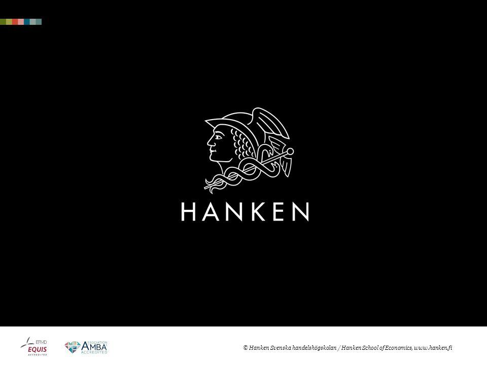 © Hanken Svenska handelshögskolan / Hanken School of Economics, www