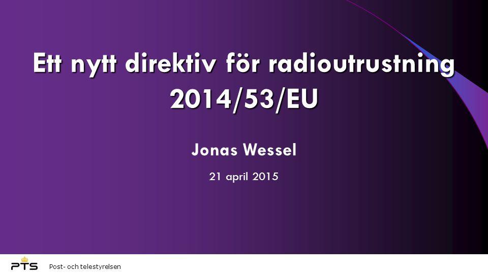 Ett nytt direktiv för radioutrustning 2014/53/EU